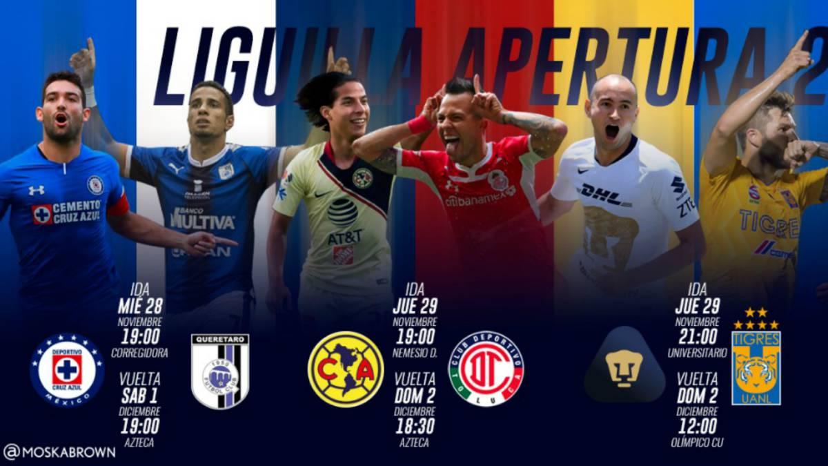 Fechas y horarios de la Liguilla del Apertura 2018 de la Liga MX ... f7c1dfef5b1