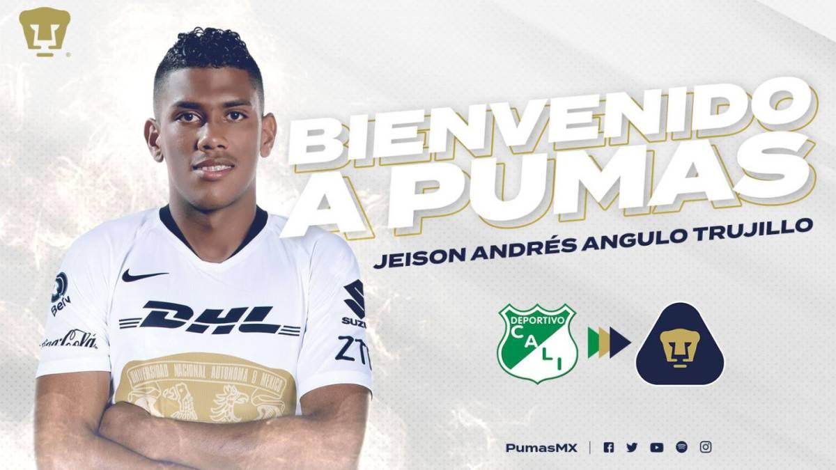 Oral Terrible Sur  El colombiano Jeison Angulo es nuevo jugador de los Pumas - AS México