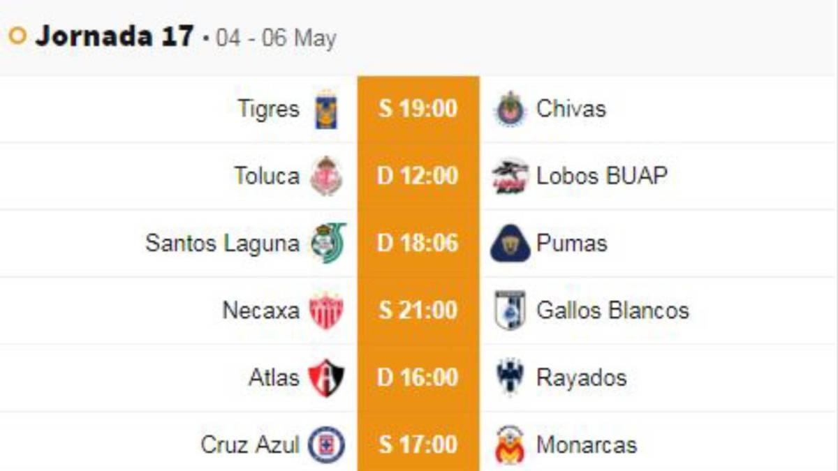 Liga Bbva Calendario 2019.Fechas Y Horarios De La Jornada 17 Del Clausura 2019 De La Liga Mx