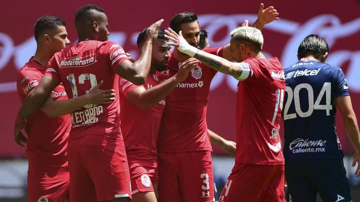 Toluca vence a Atlético San Luis en un partido lleno de goles y suma su primer triunfo del torneo