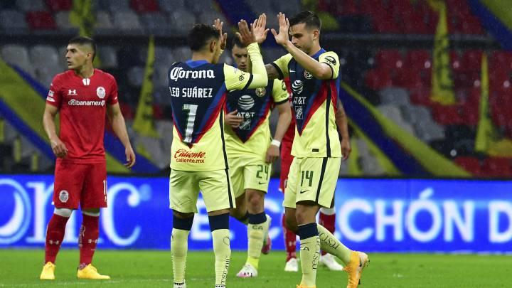 América - Toluca (1-1): resumen del partido y goles - AS México